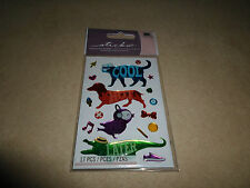 "Sticko ""Cool Cat, Hot Dog, Song Bird & Later Gator"" 3D Stickers, NEW IN PACKAGE"