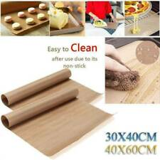 Silicone Oven Baking Tray Sheets Mat Pan Non Stick Fat Reducing Cooking US