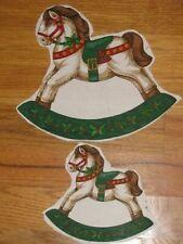 New listing Christmas Iron Ons 3 Small 3 Large Rocking Horse Iron On's-Sweatshirts-Swe ater