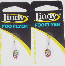 Lindy Tackle 1/16 Foo Flyer Jigs (Lot of 2-Perch/Tullibee)