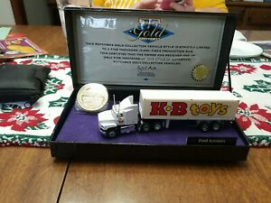 Matchbox Gold Collection KB Toys Ford Aeromax Tractor Trailer Truck 1996
