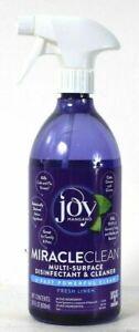 (1 Bottle) Joy Mangano Miracle Clean Fresh Linen Multi Surface Cleaner 28 Oz