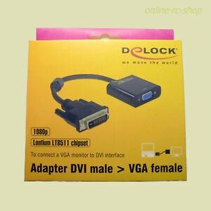 DeLOCK® Adapter Adapterkabel DVI 24+1 Stecker > VGA Buchse 65658