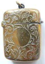 Vintage Brass Matchbox Match Safe Vesta Case, end of Xixc