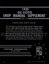 1939 DeSoto Shop Manual Supplement 39 De Soto Repair Service Book S6