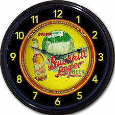Bushkill Products Co Easton PA Beer Tray Wall Clock Bushkill Falls Ale Brew 10""