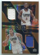 2016-17 Select Duets Prizms Copper 4 Blake Griffin Chris Paul Dual Jersey 43/49