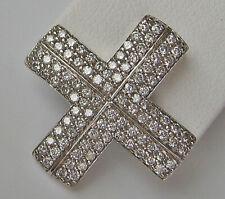 WoW ♛ Kreuz Brillant Anhänger aus 585 Gold mit Diamant Weißgold Diamonds ★ 6806