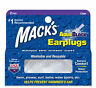 MACK'S AQUABLOCK EARPLUGS - CLEAR -  EXTREME COMFORT WATER PROTECTION 2 PAIR