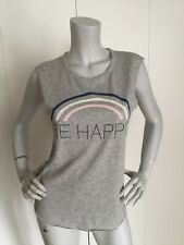 Junk Food Mickey Mouse Gray Be Happy Women's T-Shirt Size S