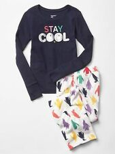 New Gap Kids 2 Piece PJs Stay Cool Penguin Girls Size 4 Year NWT Pajamas Fleece