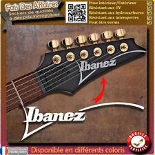sticker autocollant  ibanez GUITARE HEADSTOCK rock decal music restauration