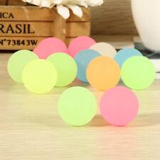 10 Pcs 32mm Luminous High Bounce Ball Glow in the Dark Noctilucent Ball Spus
