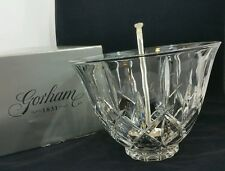 Gorham Crystal Lady Anne Punch Bowl & Silver Plate Ladle Full Lead Crystal