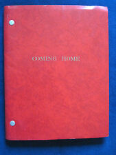COMING HOME Original Script HAL ASHBY, JANE FONDA, JON VOIGT, BRUCE DERN
