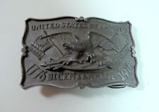 Vintage Swiss Miss Limited Edition Pewter Belt Buckle - Bicentennial 1776-1976