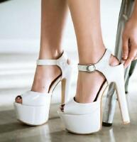 Women Peep Toe Shoes Platform High Heels Pumps Sandals Party Dress Shoes Chic