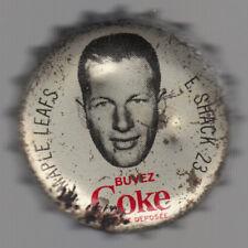1964-65 COCA-COLA COKE BOTTLE CAP WITH CORK EDDIE Ed SHACK TORONTO MAPLE LEAFS