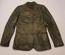 EUC MetroStyle Women's green leather Jacket size 10T