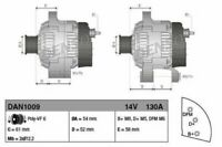 DENSO ALTERNATOR FOR A CADILLAC BLS ESTATE 1.9 110KW