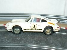 Scalextric Exin Coche PORSCHE CARRERA RS Blanco 4051 original año 1975 slot car