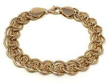 """14k Rose Gold Charm Bracelet 7.5"""" 11.5mm 25.9 grams"""