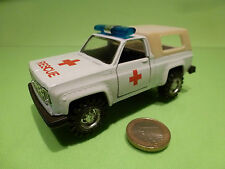 MADE IN CHINA CHEVROLET CHEVY BLAZER AMBULANCE - WHITE 1:36? - GOOD CONDITION