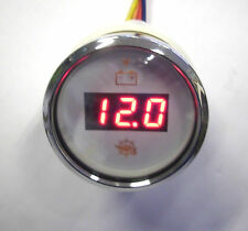 Digitales Voltmeter Spannungsmesser  8-32 V Boot  Weiss- Chrom 52mm 27.322.40