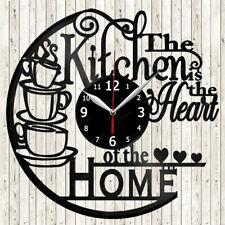 Kitchen Vinyl Record Wall Clock Decor Handmade 2353