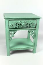 Nachttisch Beistelltisch Telefontisch Pflanzenhocker Konsole mint grün antik