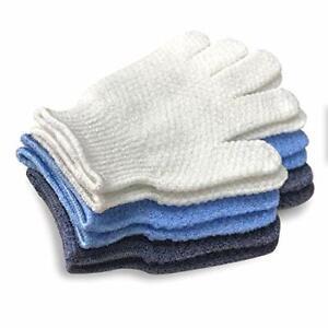 EvridWear Unisex Hygiene Exfoliating Hydro Body Scrub Bath Gloves 3 Levels