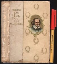 1905 Through the YEAR With SHAKESPEARE 366 Gems, 1 per Day 128 page Hardcover