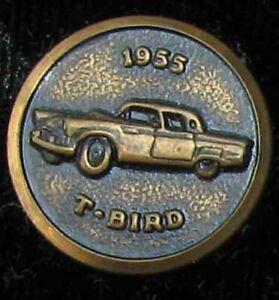 NOS 1955 FORD THUNDERBIRD SALESMAN'S BRASS JACKET SLEEVE BUTTON EXCELLENT L@@K