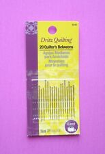 Dritz Quilting - 20 Pack Quilters Betweens - Size 7 Hand Sewing Needles - # 3040
