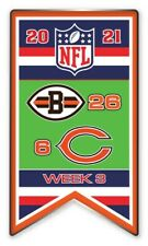 2021 Semaine 3 Bannière Broche NFL Cleveland Browns Chicago Bears Foot Super Bol