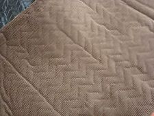 "ONE YARD CORDUROY Foam Backed w/ QUILTED LINING FABRIC BROWN 60"" x 36"" BTY"