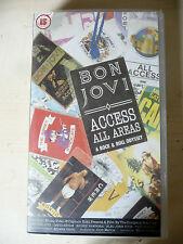 "VHS MUSICALE ""BON JOVI ACCESS ALL AREAS"" 1990 videocassetta- FUM0"