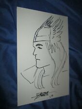 THOR Original Art Sketch by George Perez    ~Infinity Gauntlet/Avengers/Marvel