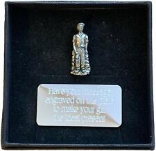 More details for personalised gift box & hand made pewter collier miner pin badge