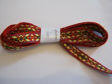 WOVEN BRAID - RED  15mm & 2mtr Length.  **NEW** Free P&P