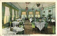 A View of the Dining Room, Gorley's Lake Hotel, Uniontown PA