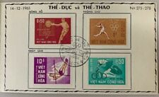 1965 Vietnam#272-275 Saigon First Day Cover, Sports & Physical Education *a