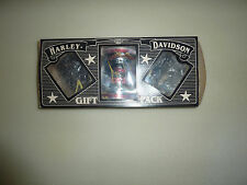 """Harley Davidson  """"NEW""""   Rare 13 oz Unopened Coffee Can Gift Set with Rider Mugs"""