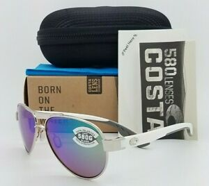 NEW Costa Loreto Sunglasses Palladium Green Mirror 580G Glass AUTHENTIC Aviator