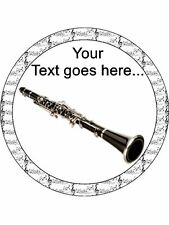 Clarinet music instrument Personalised Edible Cake Topper Wafer Icing Decoration