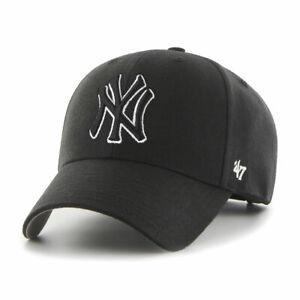 New York Yankees Cap MLB Baseball 47 Brand Cap Kappe SNAPBACK Verschluß schwarz