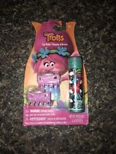 New In Package Trolls Lip Balm And Hair Clips