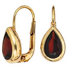 Echter Ohrschmuck im Hänger-Stil aus Gelbgold mit Schnappverschluss für Damen