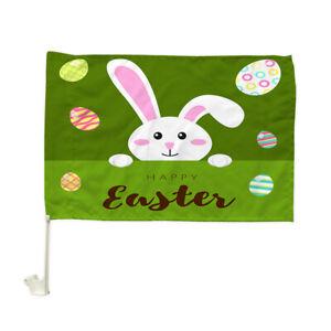 """White Rabbit Egg Green Screen Car Flag Car Window Car Culture Auto Flag 12""""X 18"""""""