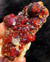 136g Gemmy!!! Rare Natural Orange Spessartine Garnet Crystal Specimen ip1508
